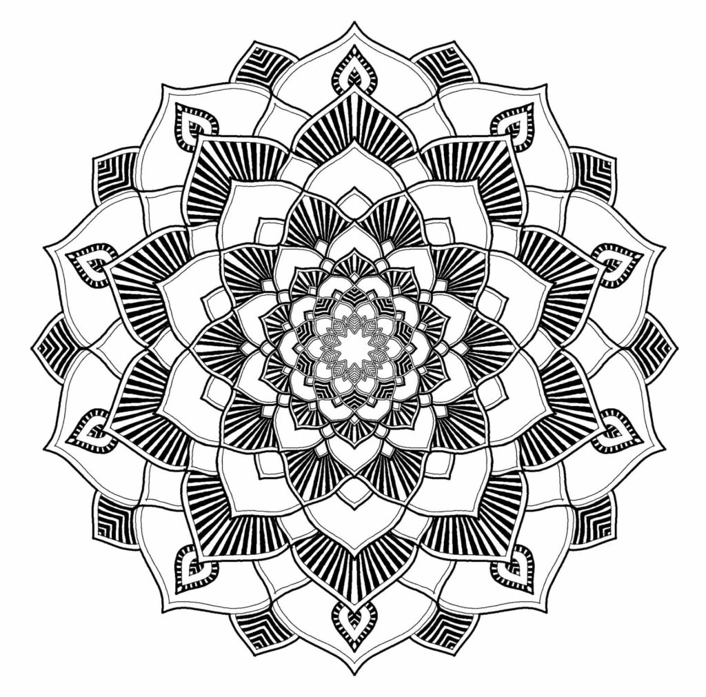 Mandala Coloring Book for Adults Malvorlage