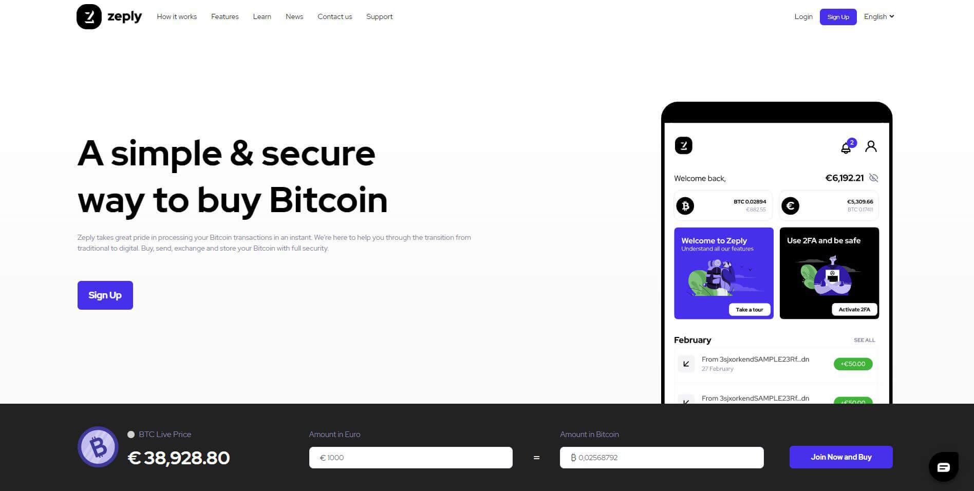 Zeply.com Webseite Test BTC Kauf Erfahrungen
