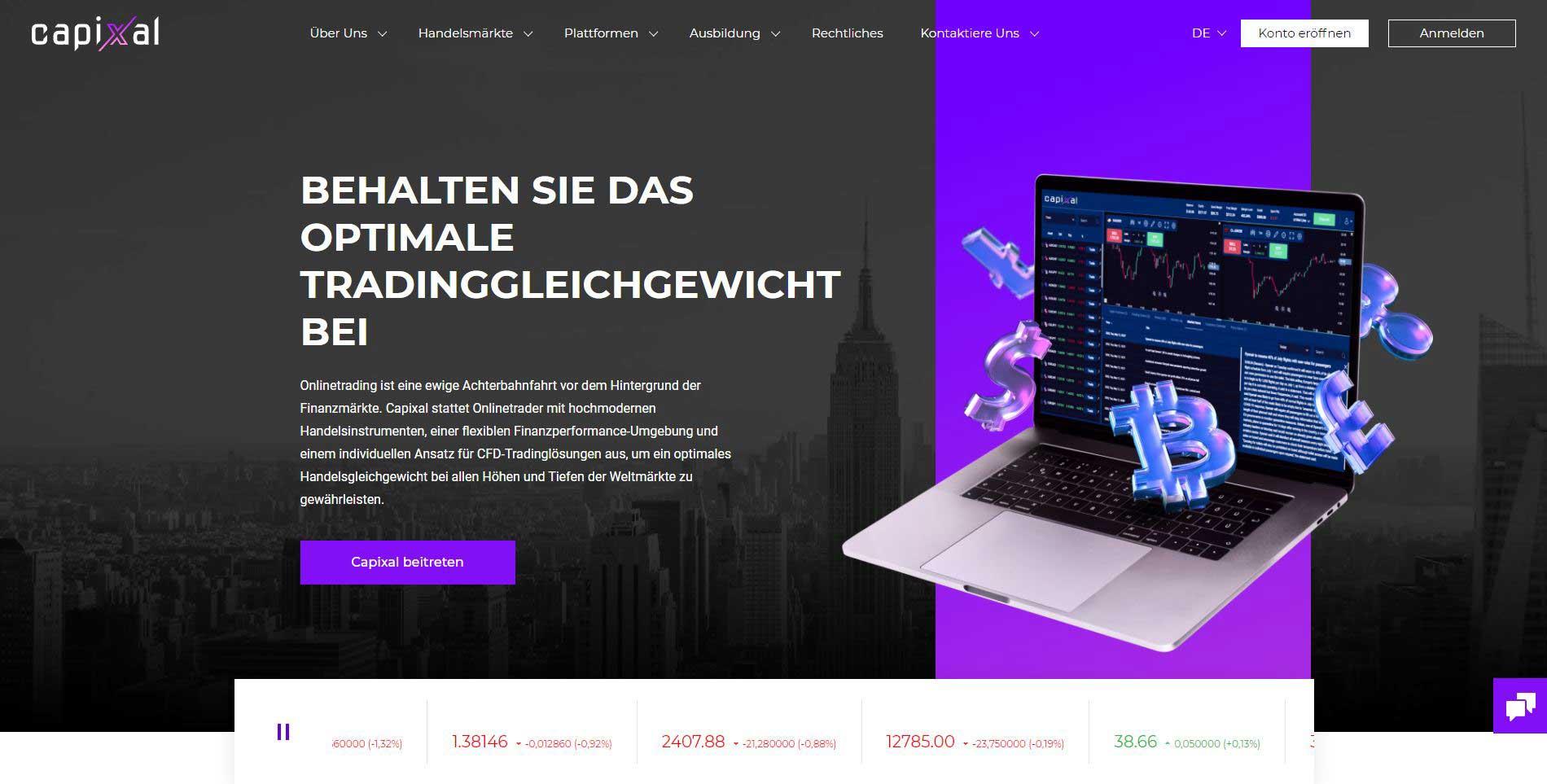 Capixal.com Broker Webseite Test