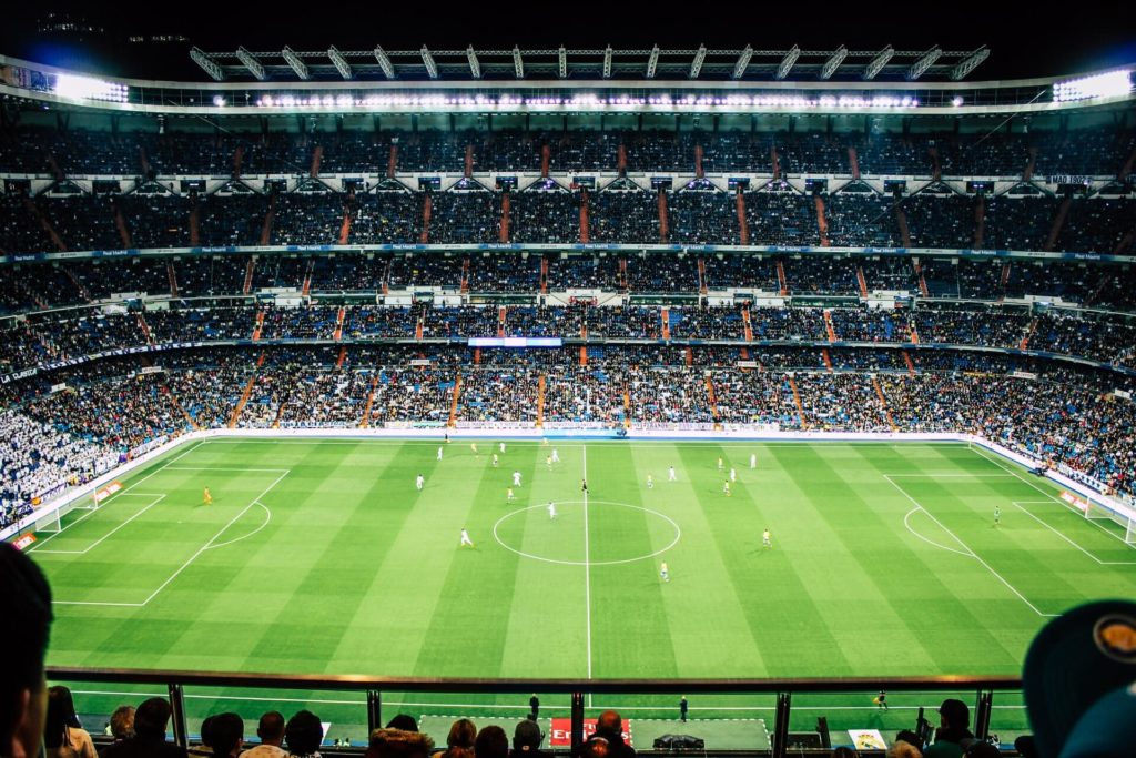 EM 2021 Achtelfinale Fussballplatz